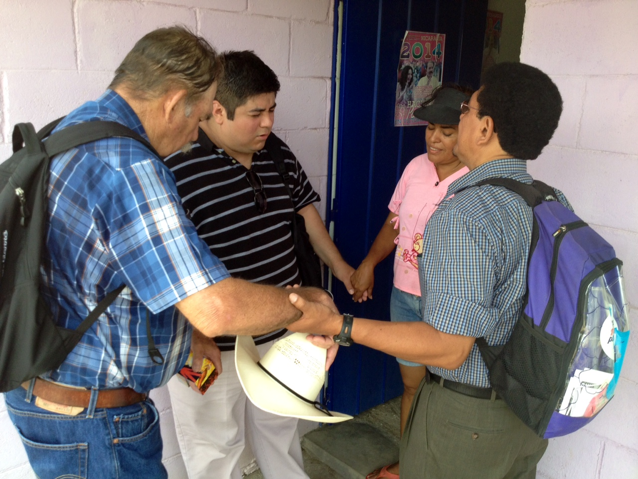 Albert and Howard visiting a home in Nicaragua