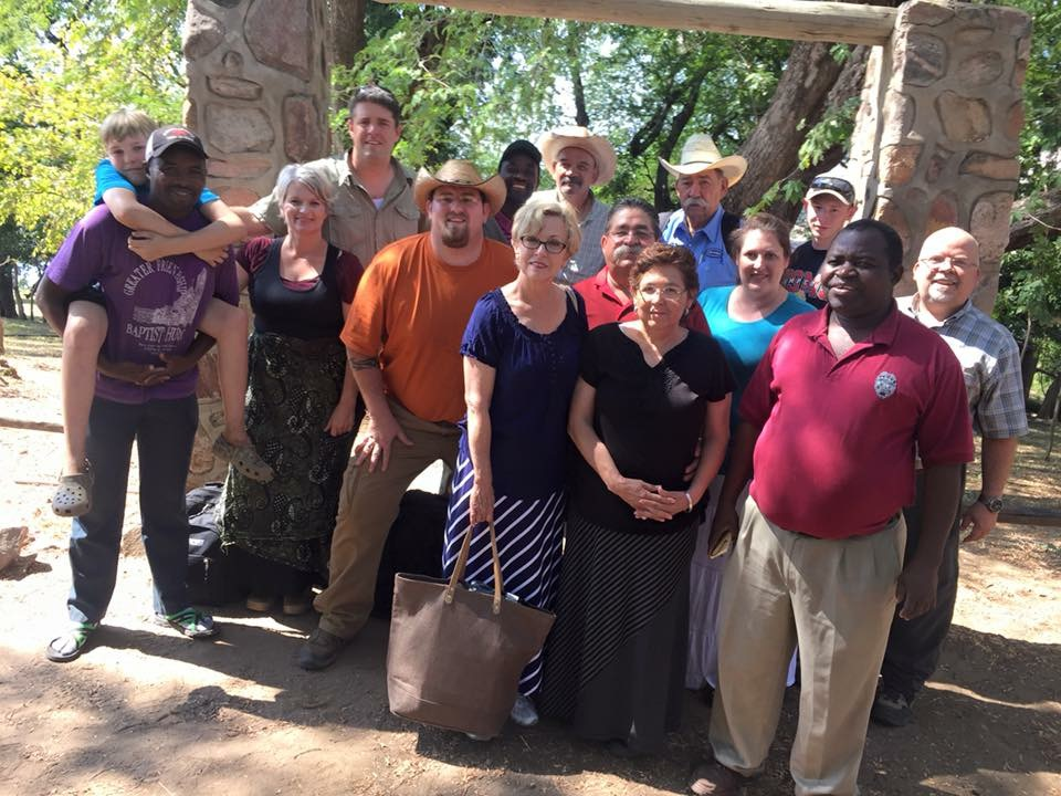 Zambia group at our camp